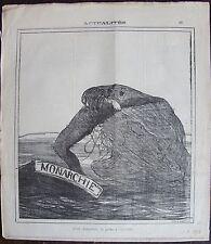 DAUMIER LITHOGRAPHIE ORIGINALE DU CHARIVARI, ACTUALITÉS N°69