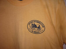Vintage 80s Antique Automobile Club Of America 50/50 T Shirt Orange L