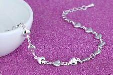 SEXY Silver Kiss Heart Bracelet