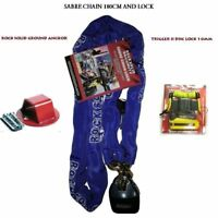 MOTORCYCLE RS SABRE 1.8M CHAIN LOCK + RS GROUND ANCHOR+10mm TIGGER DISK LOCK DLR