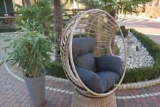 Relaxsessel,Drehsessel Balkon Terasse Wintergarten Polyrattan Stuhl Rattan
