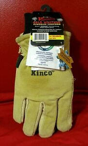 🔥 KINCO 901 LEATHER SKI /WORK GLOVES XL WITH NIKWAX SUEDE WAX PIGSKIN THERMAL
