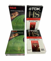 2 TDK T-120 and 2 RCA  High Standard VHS Blank Video Tapes NEW SEALED lot of 4