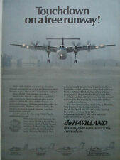 10/1980 PUB DE HAVILLAND AIRCRAFT CANADA DASH 7 REGIONAL AIRLINER ORIGINAL AD