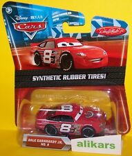 O - DALE EARNHARDT JR. #8 Rubber Tires Mattel Disney Cars 1:55 Diecast Vehicle