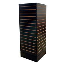 Revolving Slatwall Floor Display Rotating Cube Tower 4sided Retail Fixture Black