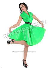 100% Latex Rubber Gummi .45mm Dress Skirt Suit Catsuit Belt Party Clothing Green