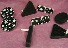 Lot Of 8 Black And White Holiday Noise Makers Rectangle Triangle And Circles