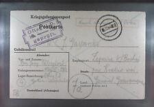 Camp Oflag IID Grossborn 1944 POW Prisoner of War Kriegsgefangenenpost (K18a)