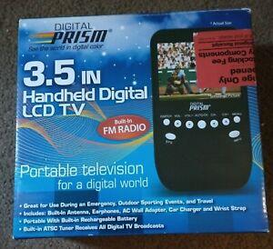 "DIGITAL PRISM 3.5"" INCH HANDHELD PORTABLE LCD TV  & FM Radio"