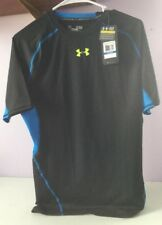 Under Armour Ua Compression Shirt Mens Xl Extra Large Nwt Black Blue Short