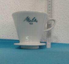 alter Porzellan Kaffee Filter Kaffee Filter Melitta 102 weiß 4 Loch