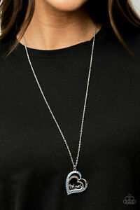 """Paparazzi ~ A Mothers Heart Blue """"Mom"""" Necklace ~ 💙NEW RELEASE 2021💙 ~ *WOW*"""