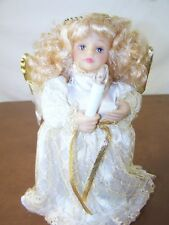 """Yuletide Traditions Musical Holiday Animated Figurine Angel 12"""" Tall Christmas"""