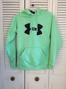 UNDER ARMOUR  Lime Green Hoodie Sweatshirt  Size Small GUC