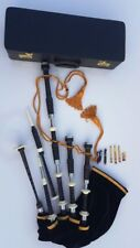 Great Highland Bagpipe With full silver mounts and Free Hard case