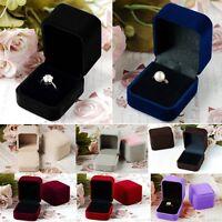 Charm Velvet Earring Ring Square Display Jewelry Storage Organizer Box Case Gift