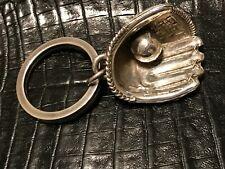 Glove & Ball Key Ring Tiffany & Co. Sterling Silver Baseball