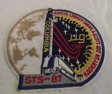 Columbia STS-87 Kregel Lindsey Chawla Scott Nasa Astronaut Space Badge Patch