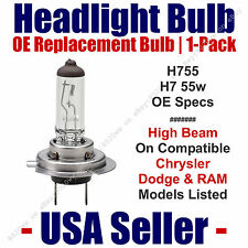 Headlight Bulb High Beam OE Replacement For Select Dodge Chrysler Ram - H7 55