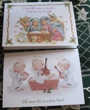Ruth J Morehead 2 Christmas Cards Nativity Angels Current New FREEShipping$20min