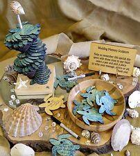 90 Pc Memory Sculpture Wedding Guest Book Alternative Color Sea Turtles