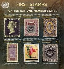 Micronesia 2015 MNH First Stamps UN United Nations Member 6v MS VIII Penny Black