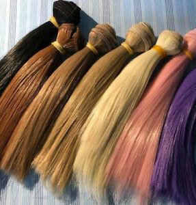 Puppenhaare, Puppen Haare, Perrücke für Amigurumis zum Aufnähen 15 x 100 cm