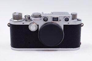 Exc+ Leica Leitz IIIF 35mm Red Dial Rangefinder Camera