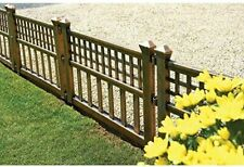 Gablemere Greenhurst Outdoor Garden Plastic Fence Panels Pack of 4, Bronze