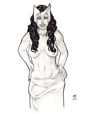 Scarlet Witch topless original art pinup by Chris Foulkes aka Daikkenaurora