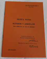 Air Ministry Pilot's Notes 1530C  Blenheim V w/ 2 x Mercury XV or 25 engines