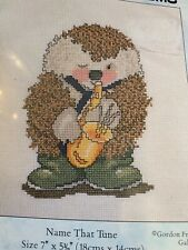 Country Companions Counted Cross Stitch Kit Hedgehog Name That Tune England 93