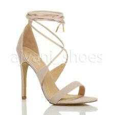 Sandali e scarpe spillo beige per il mare da donna