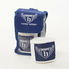 Hatton Boxing 2.5 mtr HAND WRAPS 100% Cotton BLUE Fight Protection