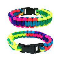 New Paracord Rope Bracelet Wristband Survival Camping Hiking Climbing Colored