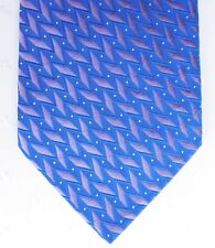 Herringbone patterned mens tie by George blue and purple
