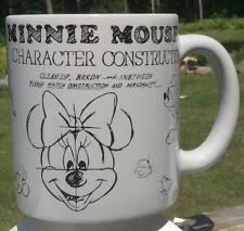 "DISNEY PARKS ""MINNIE MOUSE CHARACTER CONSRUCTION"" COFFEE/TEA CUP/MUG 16 oz"