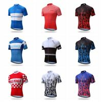 Short Sleeve Sportswear Cycling Jerseys Bike Bicycle Quick Dry Clothing Tops Tee