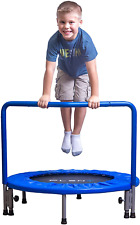 PLENY 36-Inch Boys Indoor Trampoline with Handle, Safe Trampoline for Kids Navy