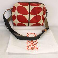 ORLA KIELY Classic Multi Stem Print Red Beige Crossbody Shoulder Bag - H64
