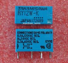 10PCS  RY12W-K 12VDC TAKAMISAWA/FUJITSU ORIGINAL Relay 8PINS