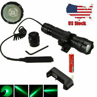 Tactical Scope Mount Flashlight 501B LED Hunting Torch For 20mm Rail Picatinny