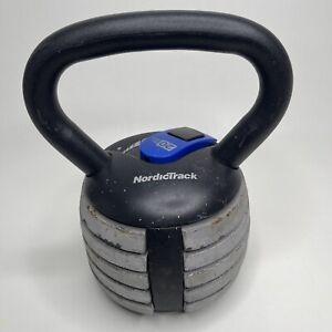 NordicTrack Adjustable Kettle Bell 20 pounds Max dumbbell