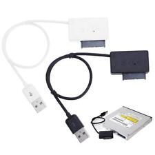 USB 2.0 TO 7+6 13 Pin Slimline SATA Laptop CD/DVD Rom Adapter Kabel w/