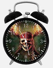 "Pirates of the Caribbean Alarm Desk Clock 3.75"" Home Office Decor Y12"