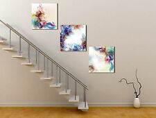 Huge Abstract Canvas Flower Art Oil Painting Modern Home Wall Decor Set No Frame