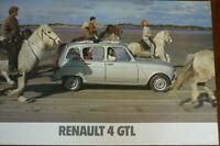 Renault 4 GTL - Original official dealer showroom poster
