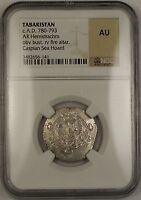 AD 780-793 Tabaristan Hemidrachm Silver Coin NGC AU Caspian Sea Hoard