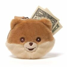 New GUND Plush Toy Stuffed Animal POMERANIAN POM Puppy Dog BOO Coin Bag Purse